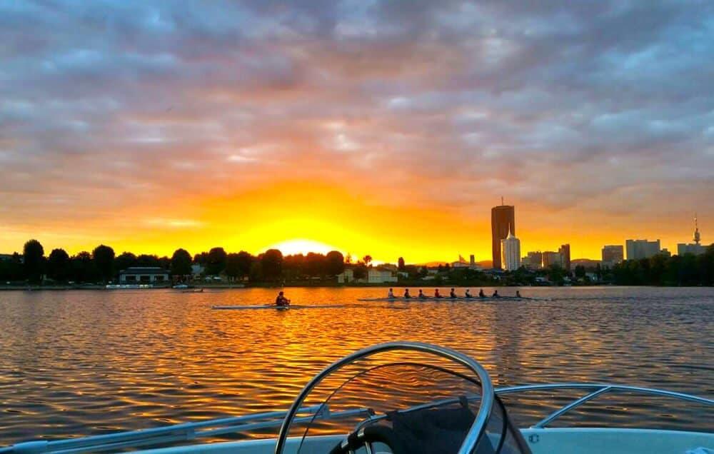 Sonnenuntergang Alte Donau