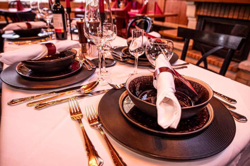 Fine Dining Gedeck im Selbstverständlich Alte Donau
